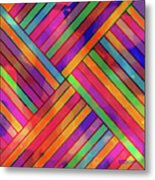 Diagonal Offset Metal Print