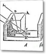 Diagram Showing Refraction, Kepler, 1611 Metal Print