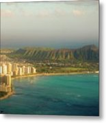 Diamond Head Crater - Waikiki Afternoon Metal Print