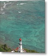Diamond Head Lighthouse 3 Metal Print