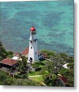 Diamond Head Lighthouse Metal Print