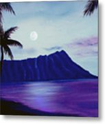 Diamond Head Moon Waikiki #34 Metal Print