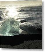 Diamond On Diamond Beach Black Sand Waves Clouds Iceland 2 2162018 1985.jpg Metal Print