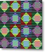 Diamond Quilt 1 Metal Print