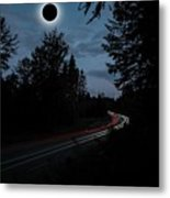 Diamond Ring Solar Eclips Over Route 66 By Adam Asar 3 Metal Print