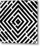 Diamond Shaped Optical Illusion Maze Metal Print
