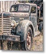 Diamond T Logging Truck Metal Print