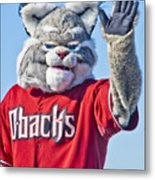 Diamondbacks Mascot Baxter Metal Print