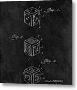 Dice Cube Patent Metal Print