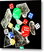Dicing With Chance Metal Print
