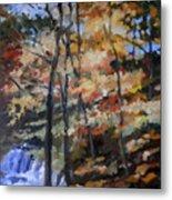 Dick's Creek Falls Metal Print