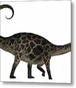 Dicraeosaurus Side Profile Metal Print