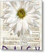 Dictionary Daisy Metal Print