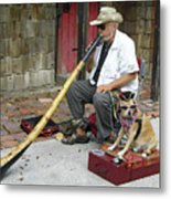 Didgeridoo Performer Metal Print