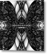 Didgitized Ballpoint Butterfly Effect Metal Print
