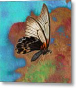 Digital Art Butterfly Metal Print