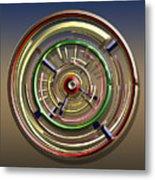 Digital Art Dial 4 Metal Print