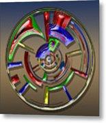 Digital Art Dial 6 Metal Print