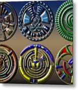 Digital Art Dials Metal Print
