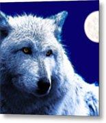 Digital Art Wolf Poster Metal Print