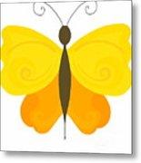 Digital Butterfly Metal Print