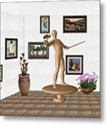 Digital Exhibition _ Guard Of The Exhibition 3 Metal Print