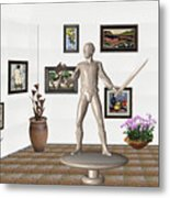Digital Exhibition _ Guard Of The Exhibition1 Metal Print