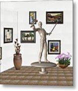 Digital Exhibition _ Guard Of The Exhibition2 Metal Print
