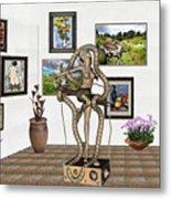 Digital Exhibition _ Modern  Statue   Of Dancing Girl Metal Print
