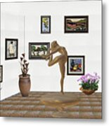 digital exhibition _ Statue of girl 42 Metal Print