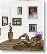 digital exhibition _ Statue of Girl 6 Metal Print