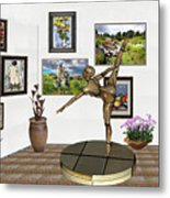 digital exhibition _ Statue of girl acrobat 35 Metal Print