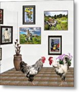 Digital Exhibition _ The World Is Narrow For Two Metal Print