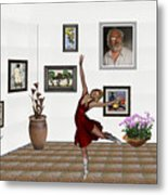 Digital Exhibition _dancing Girl 221 Metal Print