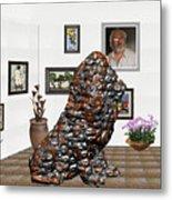 digital exhibition _Modern Statue of scrap Metal Print
