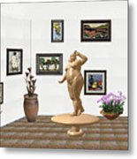 digital exhibition  Statue 23 of posing lady  Metal Print