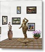 digital exhibition  Statue 25 of posing lady  Metal Print