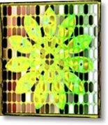 Digital Floral Metal Print