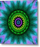 Digital Kaleidoscope Mandala 50 Metal Print