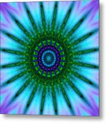 Digital Kaleidoscope Mandala 51 Metal Print