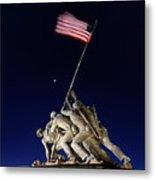 Digital Liquid - Iwo Jima Memorial At Dusk Metal Print by Metro DC Photography
