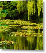 Digital Paining Of Monet's Water Garden  Metal Print