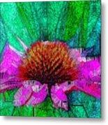 Digital Pink Echinacea  Metal Print