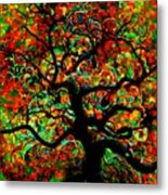 Digital Tree Impressionism Pixela Metal Print