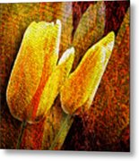 Digital Tulips Metal Print