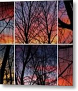 Digital Winter Trees Metal Print