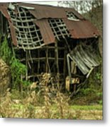 Dilapidated Barn Morgan County Kentucky Metal Print