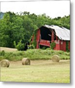 Dilapidated Old Red Barn Metal Print