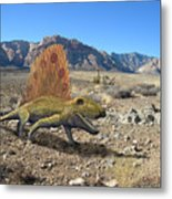Dimetrodon In The Desert Metal Print