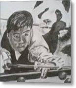 Ding Junhui Snooker Metal Print